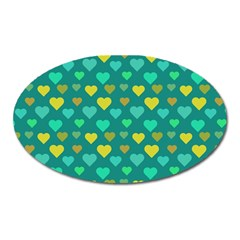 Hearts Seamless Pattern Background Oval Magnet