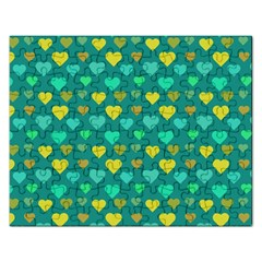 Hearts Seamless Pattern Background Rectangular Jigsaw Puzzl