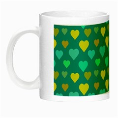 Hearts Seamless Pattern Background Night Luminous Mugs