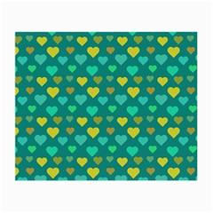 Hearts Seamless Pattern Background Small Glasses Cloth