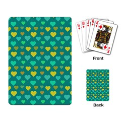 Hearts Seamless Pattern Background Playing Card