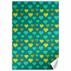 Hearts Seamless Pattern Background Canvas 12  x 18