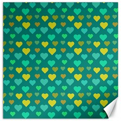 Hearts Seamless Pattern Background Canvas 16  X 16