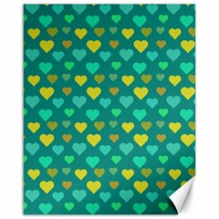 Hearts Seamless Pattern Background Canvas 16  x 20