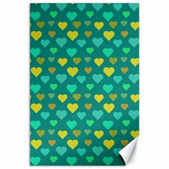 Hearts Seamless Pattern Background Canvas 24  x 36