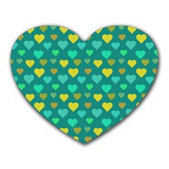Hearts Seamless Pattern Background Heart Mousepads