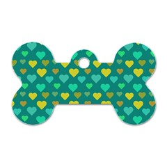 Hearts Seamless Pattern Background Dog Tag Bone (two Sides)