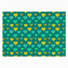 Hearts Seamless Pattern Background Large Glasses Cloth