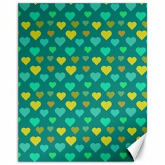 Hearts Seamless Pattern Background Canvas 11  x 14