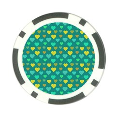 Hearts Seamless Pattern Background Poker Chip Card Guard