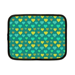 Hearts Seamless Pattern Background Netbook Case (Small)