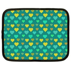 Hearts Seamless Pattern Background Netbook Case (Large)