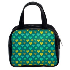 Hearts Seamless Pattern Background Classic Handbags (2 Sides)