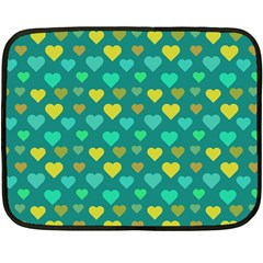 Hearts Seamless Pattern Background Double Sided Fleece Blanket (mini)
