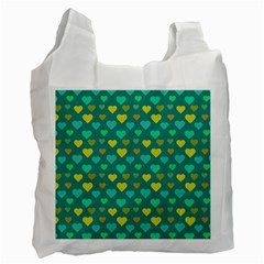 Hearts Seamless Pattern Background Recycle Bag (two Side)