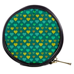 Hearts Seamless Pattern Background Mini Makeup Bags