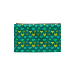 Hearts Seamless Pattern Background Cosmetic Bag (Small)
