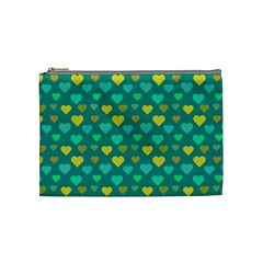Hearts Seamless Pattern Background Cosmetic Bag (Medium)