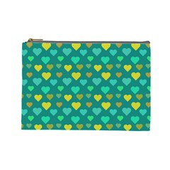 Hearts Seamless Pattern Background Cosmetic Bag (Large)