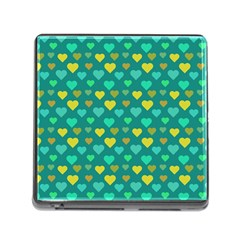 Hearts Seamless Pattern Background Memory Card Reader (square)