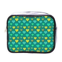 Hearts Seamless Pattern Background Mini Toiletries Bags