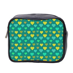 Hearts Seamless Pattern Background Mini Toiletries Bag 2 Side