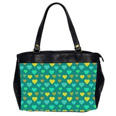 Hearts Seamless Pattern Background Office Handbags (2 Sides)