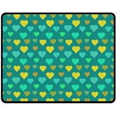 Hearts Seamless Pattern Background Fleece Blanket (medium)