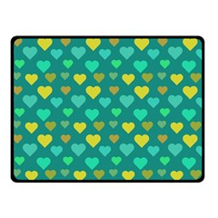 Hearts Seamless Pattern Background Fleece Blanket (Small)