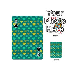 Hearts Seamless Pattern Background Playing Cards 54 (Mini)