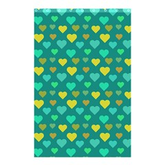 Hearts Seamless Pattern Background Shower Curtain 48  x 72  (Small)