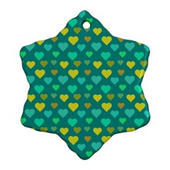 Hearts Seamless Pattern Background Ornament (snowflake)