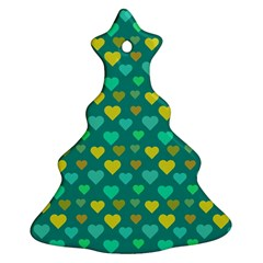 Hearts Seamless Pattern Background Christmas Tree Ornament (Two Sides)