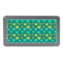 Hearts Seamless Pattern Background Memory Card Reader (mini)