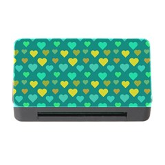 Hearts Seamless Pattern Background Memory Card Reader with CF