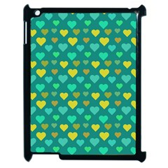 Hearts Seamless Pattern Background Apple iPad 2 Case (Black)
