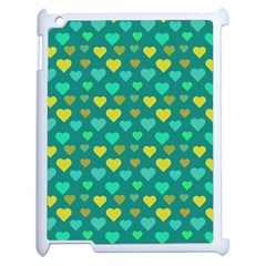Hearts Seamless Pattern Background Apple iPad 2 Case (White)