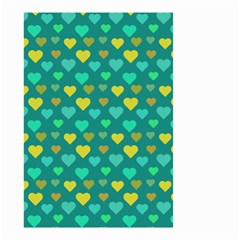 Hearts Seamless Pattern Background Small Garden Flag (two Sides)