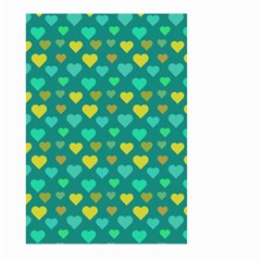 Hearts Seamless Pattern Background Large Garden Flag (two Sides)