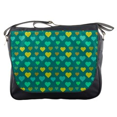 Hearts Seamless Pattern Background Messenger Bags