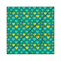Hearts Seamless Pattern Background Acrylic Tangram Puzzle (6  x 6 )