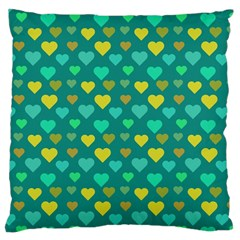 Hearts Seamless Pattern Background Large Cushion Case (two Sides)