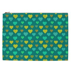 Hearts Seamless Pattern Background Cosmetic Bag (xxl)