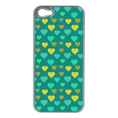 Hearts Seamless Pattern Background Apple Iphone 5 Case (silver)