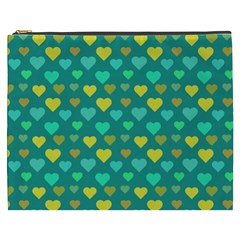 Hearts Seamless Pattern Background Cosmetic Bag (xxxl)