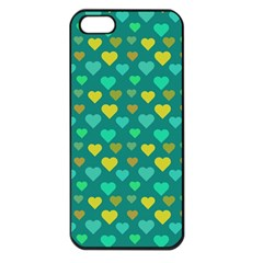 Hearts Seamless Pattern Background Apple Iphone 5 Seamless Case (black)