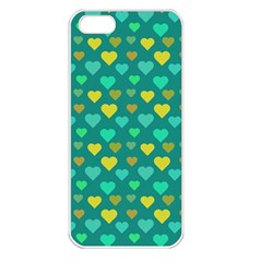 Hearts Seamless Pattern Background Apple Iphone 5 Seamless Case (white)