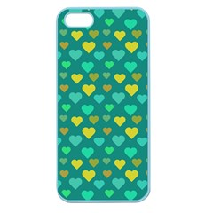 Hearts Seamless Pattern Background Apple Seamless iPhone 5 Case (Color)