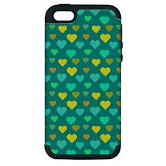 Hearts Seamless Pattern Background Apple Iphone 5 Hardshell Case (pc+silicone)
