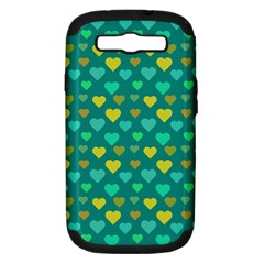 Hearts Seamless Pattern Background Samsung Galaxy S III Hardshell Case (PC+Silicone)